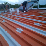 Waterproofing of zinc roof